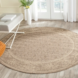 Safavieh Summer Brown/ Natural Indoor/ Outdoor Rug (5'3 Round)