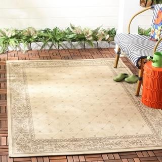 Safavieh Indoor/ Outdoor Summer Brown/ Natural Rug (6'7 Round)