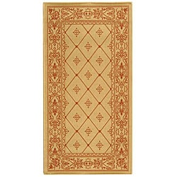 Safavieh Summer Natural/ Terracotta Indoor/ Outdoor Rug (2'7 x 5')