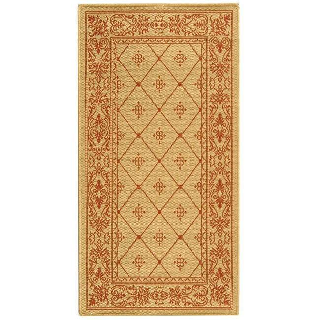 Safavieh Summer Natural/ Terracotta Indoor/ Outdoor Rug (4' x 5'7)