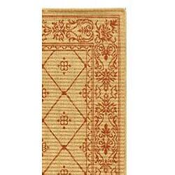 Safavieh Summer Natural/ Terracotta Indoor/ Outdoor Rug (4' x 5'7) - Thumbnail 1