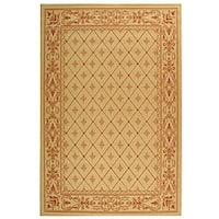 Safavieh Summer Natural/ Terracotta Indoor/ Outdoor Rug - 5'3 x 7'7