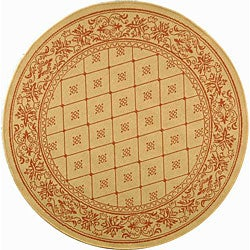 Safavieh Indoor/ Outdoor Summer Natural/ Terracotta Rug (6'7 Round)