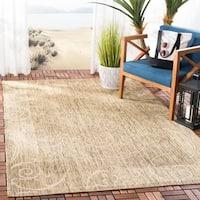 Safavieh Oasis Scrollwork Brown/ Natural Indoor/ Outdoor Rug - 7'10 x 11'