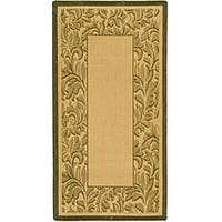 Safavieh Paradise Natural/ Olive Green Indoor/ Outdoor Rug - 2'7 x 5'