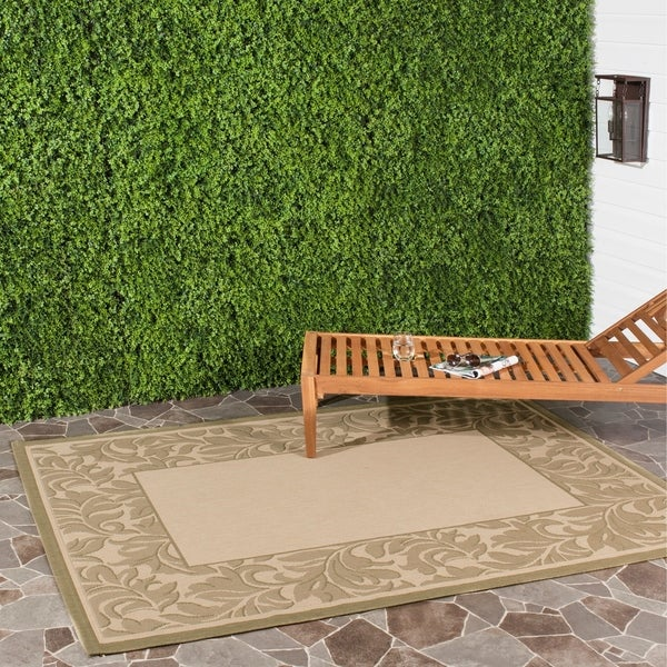 Safavieh Paradise Natural/ Olive Green Indoor/ Outdoor Rug - 5'3 x 7'7