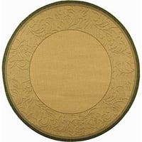 Safavieh Paradise Natural/ Olive Green Indoor/ Outdoor Rug - 6'7
