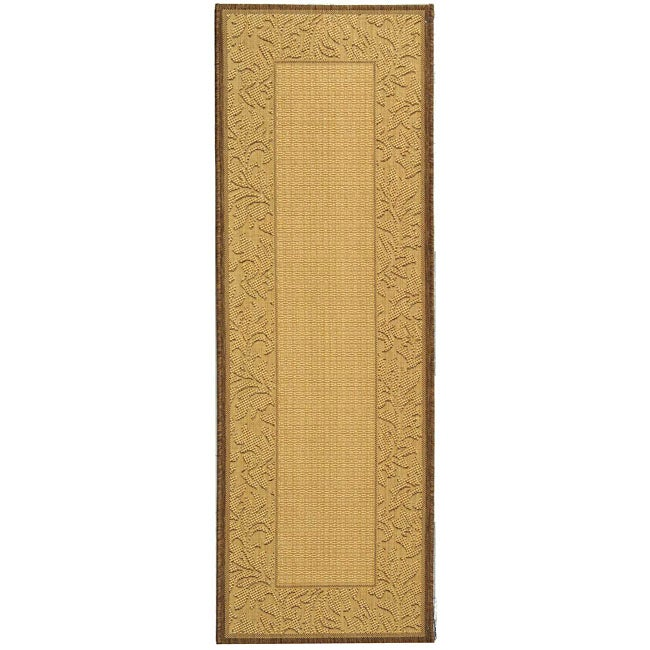 Safavieh Paradise Natural/ Brown Indoor/ Outdoor Rug (2'4 x 6'7)