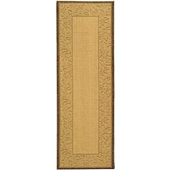 Safavieh Paradise Natural/ Brown Indoor/ Outdoor Rug (2'4 x 6'7)