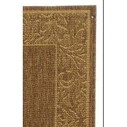 Safavieh Indoor/ Outdoor Paradise Brown/ Natural Runner (2'4 x 6'7)