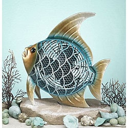 Metallic Figurine Fish Fan