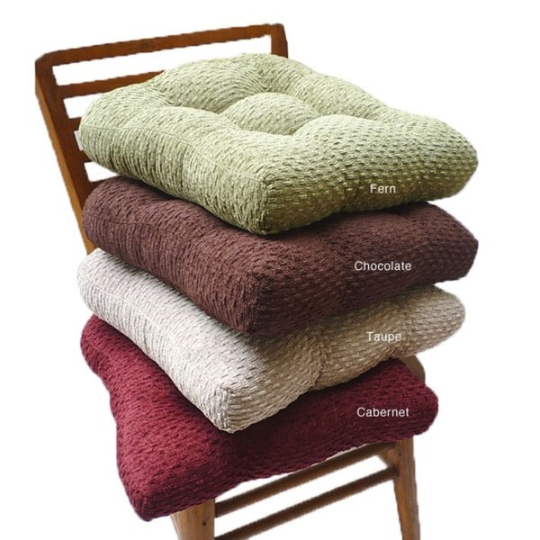 Pebble Chenille Non-slip Chair Pads (Set of 4) - Free Shipping On ...