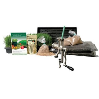 Organic Wheatgrass Grow Kit and Hurricane Wheat Grass Juicer