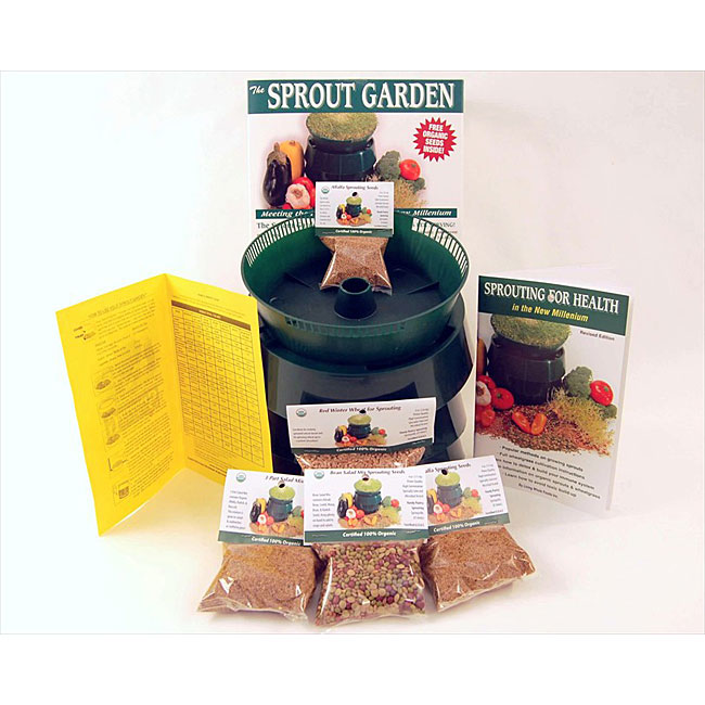 Sprouter and Organic Seeds Basic Sprouting Kit - Thumbnail 0