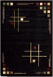 Nourison Soho Black Rug (5'2 x 7'6)