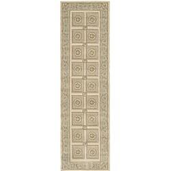 Nourison Newport Garden Ivory Wool-blend Rug (2'3 x 8') Runner