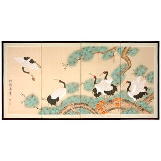 Handmade 'Homeward Bound' Silk Painting (China)
