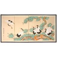 Handmade 'Homeward Bound' Silk Painting (China)
