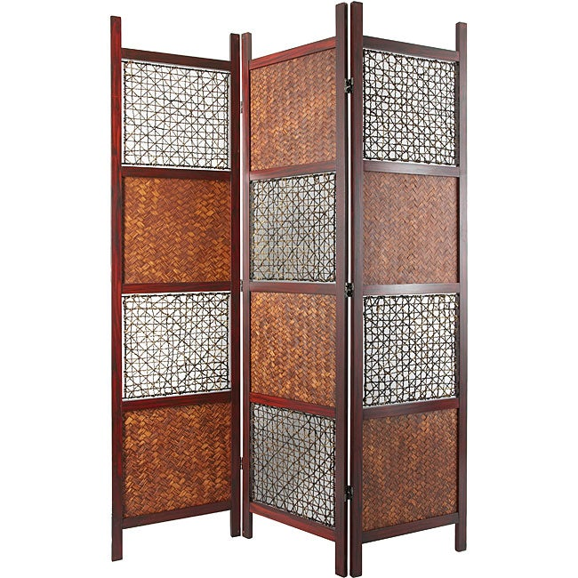 Room Divider Wood handmade wood, bamboo leaf and abaca rope room divider (china
