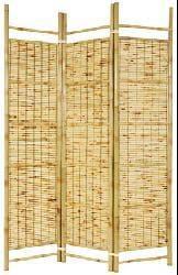 Handmade Burnt Bamboo Shoji Screen (China)