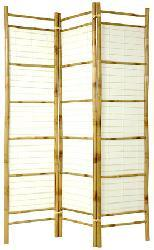 Handmade Burnt Bamboo and Rice Paper Shoji Screen (China) - Thumbnail 1