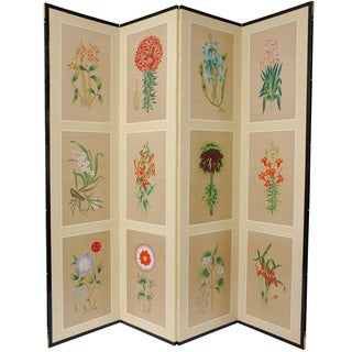 Handmade 12 Small Flowers Silk Room Divider (China)