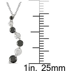 Miadora 10k Gold 1/2ct TDW Black and White Diamond Necklace (IJ, I2-I3)