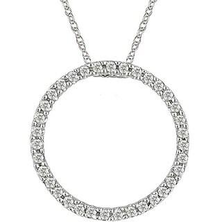 Miadora 10k Gold 1/8ct Diamond Circle of Life Necklace