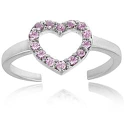 Icz Stonez 18k Gold/ Sterling Silver Pink CZ Heart Toe Ring https://ak1.ostkcdn.com/images/products/4015202/Icz-Stonez-18k-Gold-Sterling-Silver-Pink-CZ-Heart-Toe-Ring-P12039731.jpg?impolicy=medium