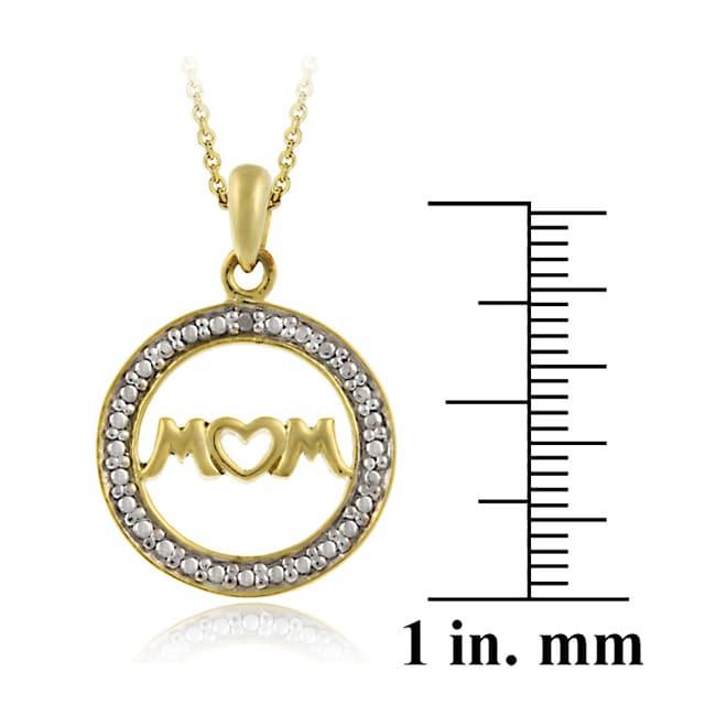 DB Designs 18k Gold/ Silver Diamond Accent 'Mom' Necklace