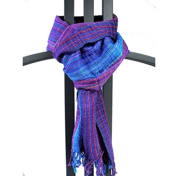 Handmade Purple/ Blue 'San Antonio' Scarf (Guatemala)