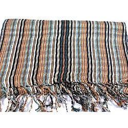 Earth Multicolored 'San Antonio' Scarf (Guatemala)