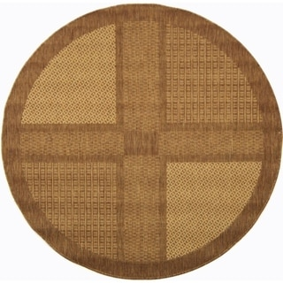 Safavieh Lakeview Brown/ Natural Indoor/ Outdoor Rug (5'3 Round)