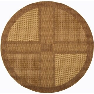 "Safavieh Lakeview Brown/ Natural Indoor/ Outdoor Rug - 5'-3"" x 5'-3"" round"