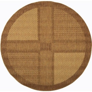 Safavieh Lakeview Brown/ Natural Indoor/ Outdoor Rug (6'7 Round)