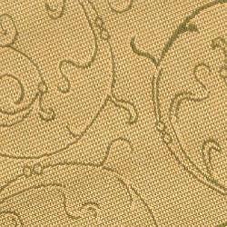 Safavieh Oasis Scrollwork Natural/ Olive Green Indoor/ Outdoor Rug (5'3 Round)