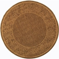 "Safavieh Paradise Brown/ Natural Indoor/ Outdoor Rug - 5'3"" x 5'3"" round"