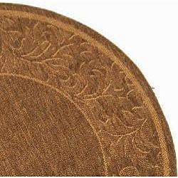 Safavieh Paradise Brown/ Natural Indoor/ Outdoor Rug (6'7 Round) - Thumbnail 1