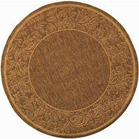 "Safavieh Paradise Brown/ Natural Indoor/ Outdoor Rug - 6'7"" x 6'7"" round"