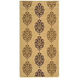 Safavieh St. Martin Damask Natural/ Brown Indoor/ Outdoor Rug - 2'7' x 5'