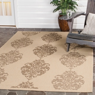Safavieh St. Martin Damask Natural/ Brown Indoor/ Outdoor Rug (4' x 5'7)