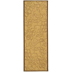 Safavieh Aruba Natural/ Brown Indoor/ Outdoor Runner (2'4 x 6'7)