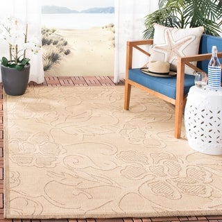 Safavieh Aruba Natural/ Brown Indoor/ Outdoor Rug (8' x 11')