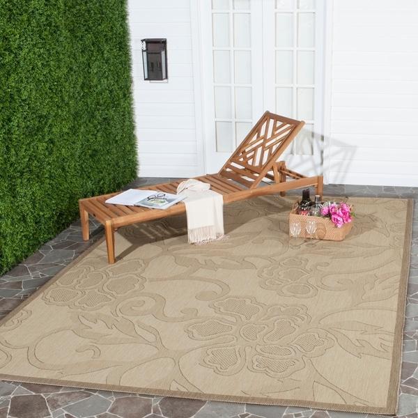 Shop Safavieh Aruba Natural Brown Indoor Outdoor Rug 8 X 11
