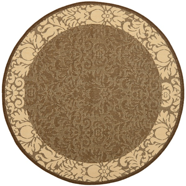 Safavieh Kaii Damask Chocolate/ Natural Indoor/ Outdoor Rug - 5'3