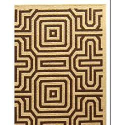 Safavieh Matrix Natural/ Brown Indoor/ Outdoor Rug (4' x 5'7) - Thumbnail 1