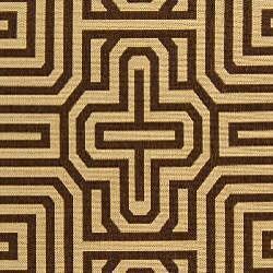 Safavieh Matrix Natural/ Brown Indoor/ Outdoor Rug (4' x 5'7) - Thumbnail 2