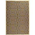 Safavieh Matrix Natural/ Brown Indoor/ Outdoor Rug (5'3 x 7'7) - 5'3 x 7'7