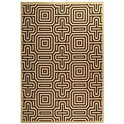 Safavieh Matrix Natural/ Brown Indoor/ Outdoor Rug (6'7 x 9'6)