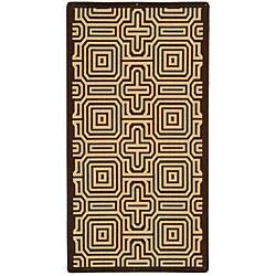 Safavieh Indoor/ Outdoor Matrix Chocolate/ Natural Rug (4' x 5'7)